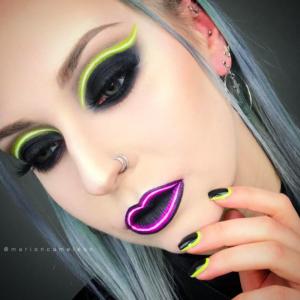 Неоновый макияж