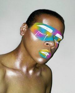Маска цвета радуги