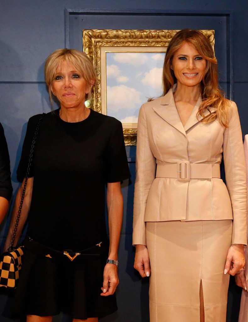 первые леди Макрон и Трамп