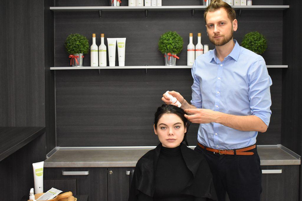 Процедура ухода за волосами